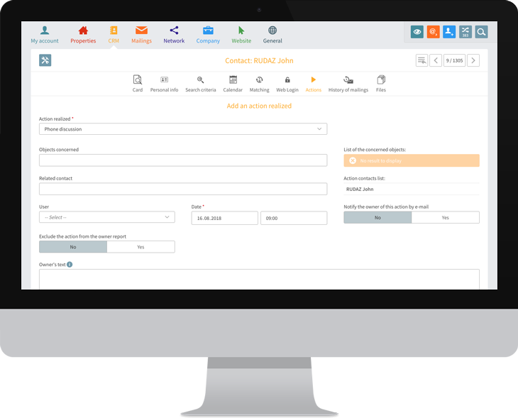 Managing the customer and owner database